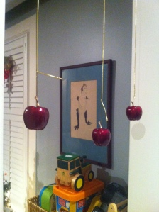 hanging apples